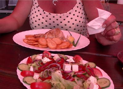 Posiłek w jednej z restauracji w Ełku
