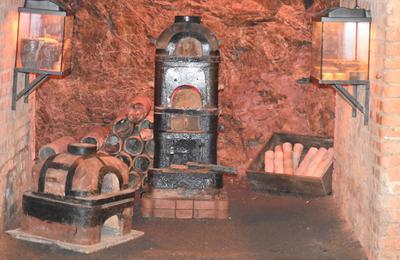 Jakiś eksponat w kopalni złota