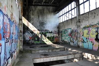 Piętro opuszczonego budynku