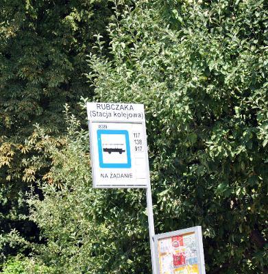 Przystanek Autobusowy ulica Rubczaka